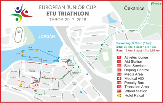 Maps of European Junior Cup, Tábor CZ